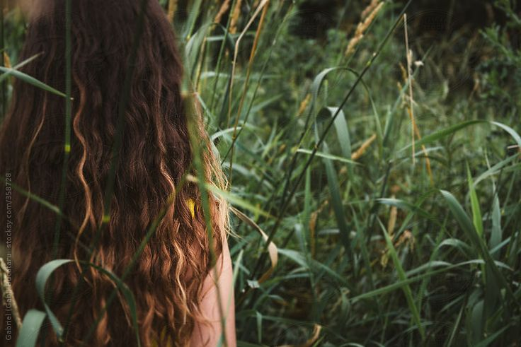 Young Girl Standing in Tall Grass Outside #summer #hair #beautiful