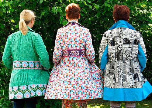 Mantel für Frauen Schnittmuster Damenmantel JOHANNA farbenmix