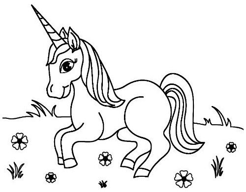 Dibujos De Unicornios Para Colorear Unicornio Unicorn Coloring