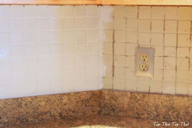 How To Paint A Tile Backsplash What A Difference You