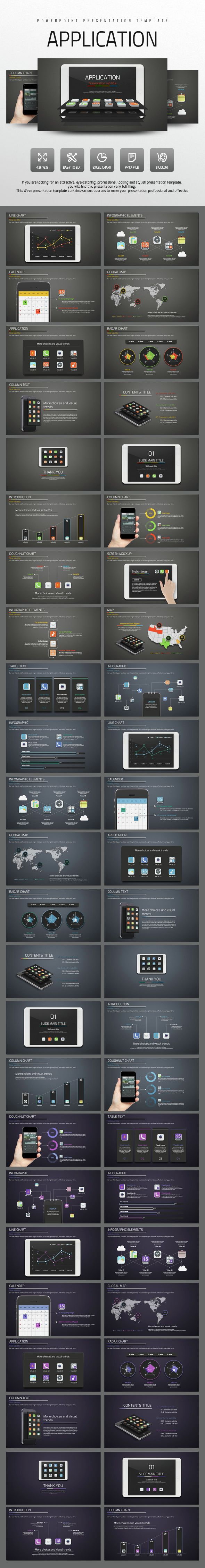 Application - #PowerPoint Templates #Presentation Templates Download here: https://graphicriver.net/item/application/14789979?ref=alena994
