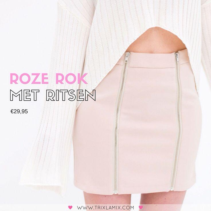 Think pink! Update je kledingkast met onze favo lentekleur roze en combineer met witte items voor een echte lente look  .   Shop deze Roze Rok met ritsen op www.trixlamix.com   #trixlamix #outfit #skirt #pink #weekend #ootd  #instapic #picoftheday #potd #style #fashion #musthave #musthaves #fashionista #instagood #love #girl