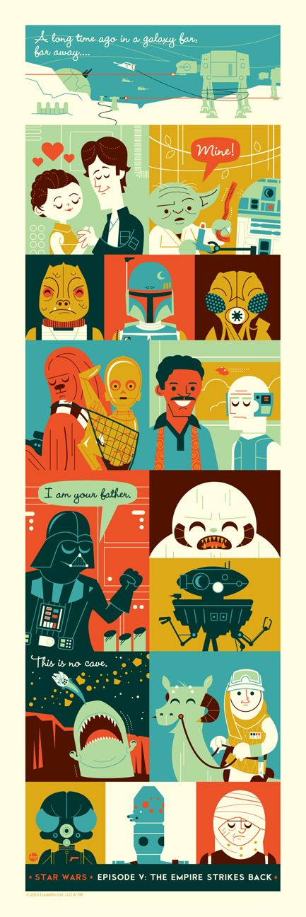 The Empire Strikes Back, A 'Star Wars' Illustration by Dave Perillo