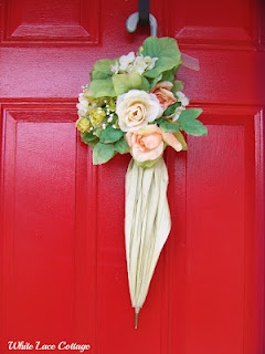 Door decor - Umbrella w/flowers & 58 best umbrella door decoration ideas images on Pinterest ... pezcame.com