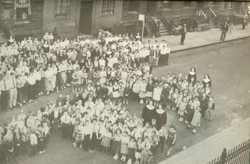 Parish Book Picture 04 - Students and Parents of St Monica's