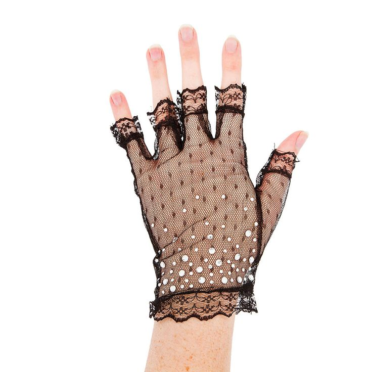 Katy Perry Bling Black Lace Armwarmers