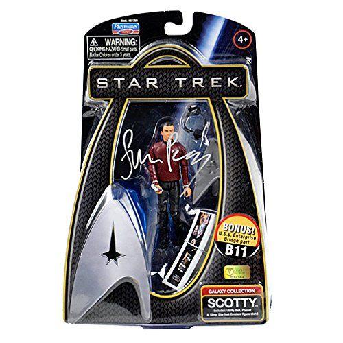 Simon Pegg Autographed Star Trek Scotty Action Figure @ niftywarehouse.com #NiftyWarehouse #StarTrek #Trekkie #Geek #Nerd #Products