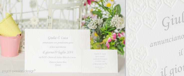 Invito matrimonio letterpress - Psyco Passion Design - http://www.psycopassiondesign.com/speciale-matrimonio/