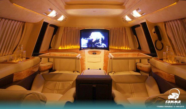 VIP салон автомобиля Cadillac Escalade после тюнинга в тюнинг-ателье Гамма-Украина