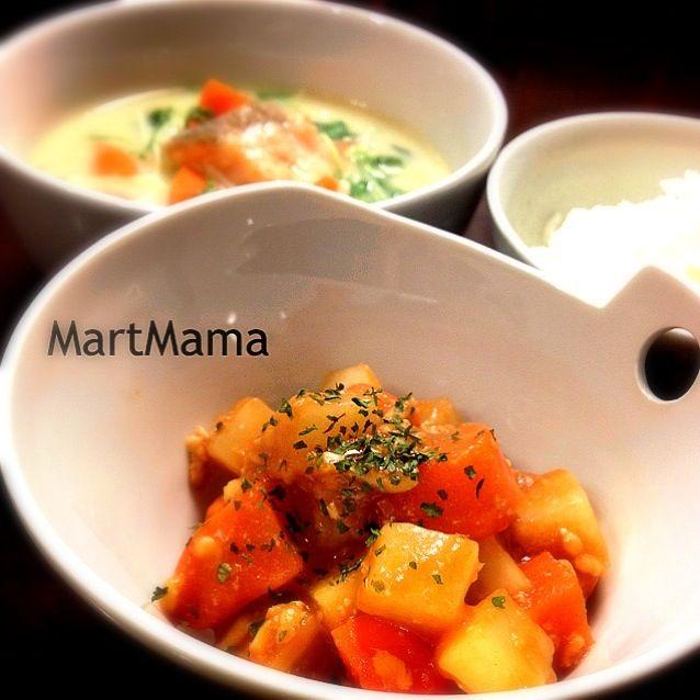■ルクエで18分♡大根そぼろ煮 ■鮭と水菜の豆乳スープ - 212件のもぐもぐ - ルクエで18分♡大根そぼろ煮 by 恭子