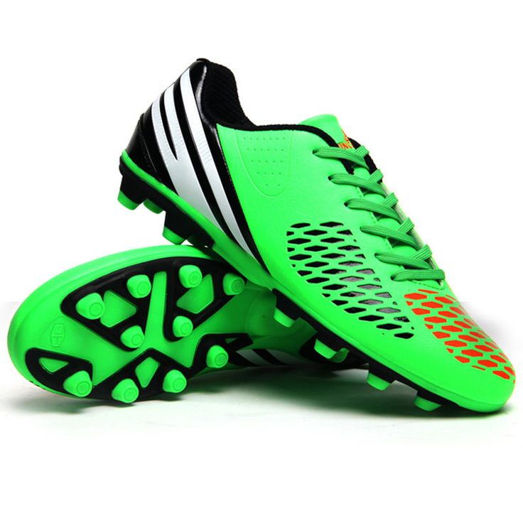 Outdoor Men Kids Soccer Cleats Shoes Firm Ground Low Top Football Boots Sneakers #Unbranded
