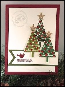 Stampin' Up! Festival of Trees - Stampin' Gals Gone Wild Weekend Challenge - www.SimplySimpleStamping.com: