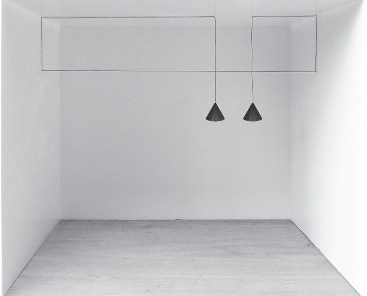 The String Lights installation, created by London based designerMichael Anastassiades for Italian brand Flos.