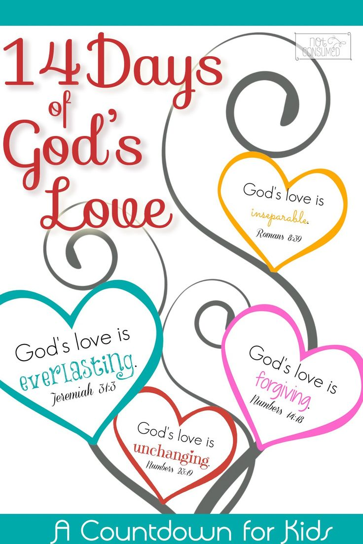 FREE Printable Valentine's Scripture Countdown...14 Days! Simple to make, easy to use!