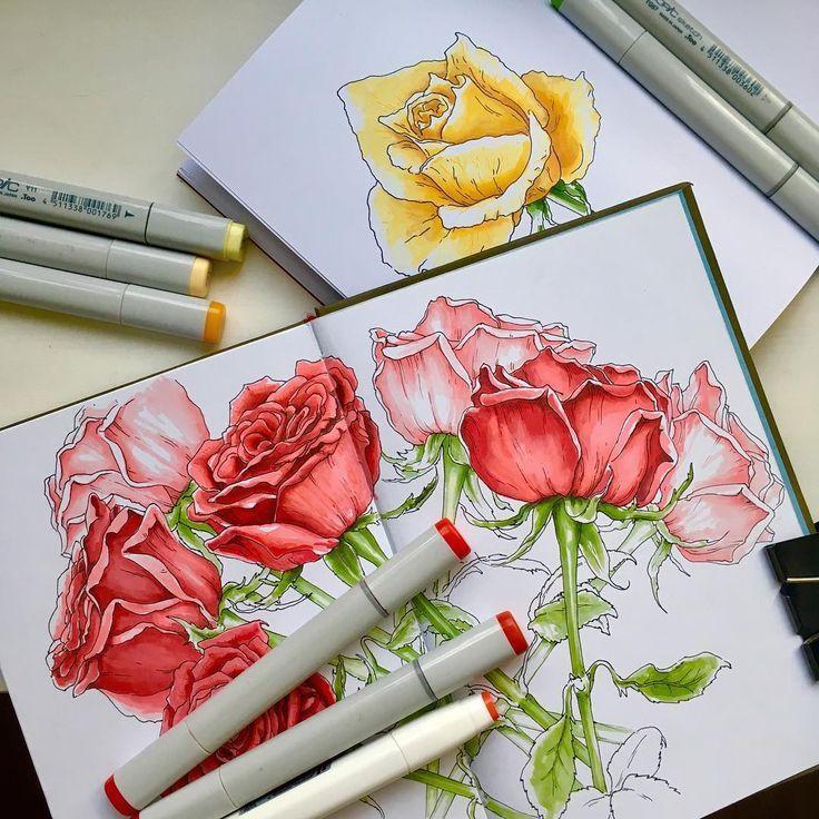 В ближайшие дни появится анонс и я приглашу вас на ИНТЕНСИВ ПО РОЗАМ (2 занятия). Рисовать будем живые розы в очень удобной студии на кораблике. На корабле
