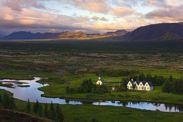 El Parlamento islandés.