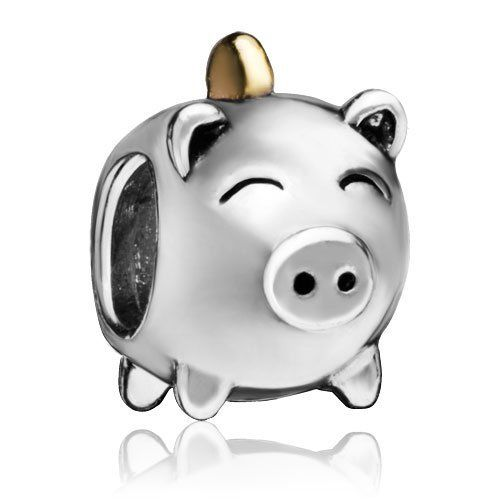 Pugster Bead Pig Money Box European Charm Plated Bead Fit Pandora Chamilia Biagi Charm Bracelet Pugster. $9.99. Pugster are adding new designs all the time. Money-back Satisfaction Guarantee. Free Jewerly Box. Fit Pandora, Biagi, and Chamilia Charm Bead Bracelets. Unthreaded European story bracelet design