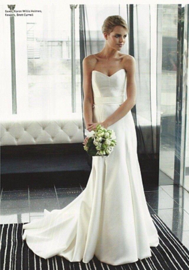 Karen Willis Holmes Prea Polyester Size 8 Wedding Dress For Sale