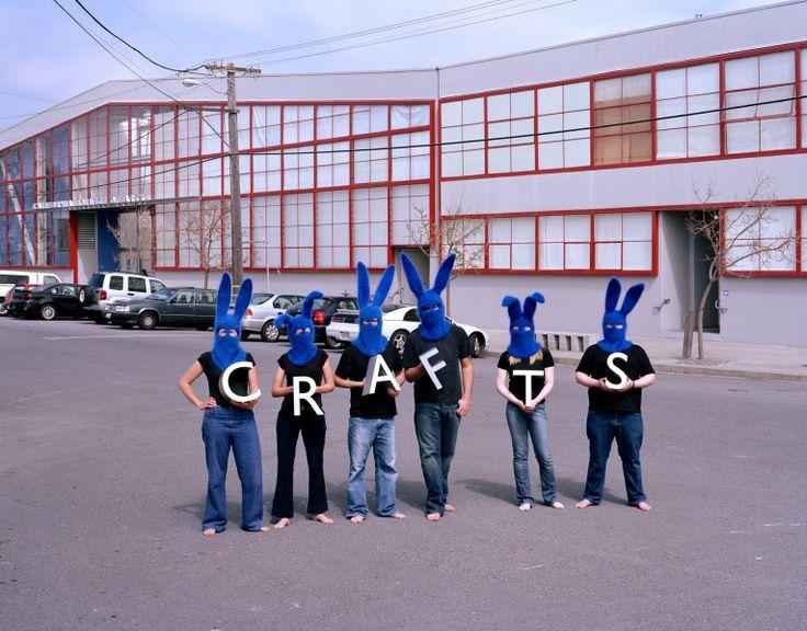 Invisible Blue Bunnies Crafts CCAC Anna Maltz