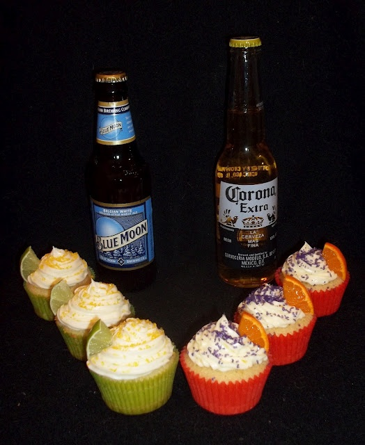Blue Moon/Corona Cupcakes!  They were delicious for the Superbowl...they would probably work for you basketball fans as well!