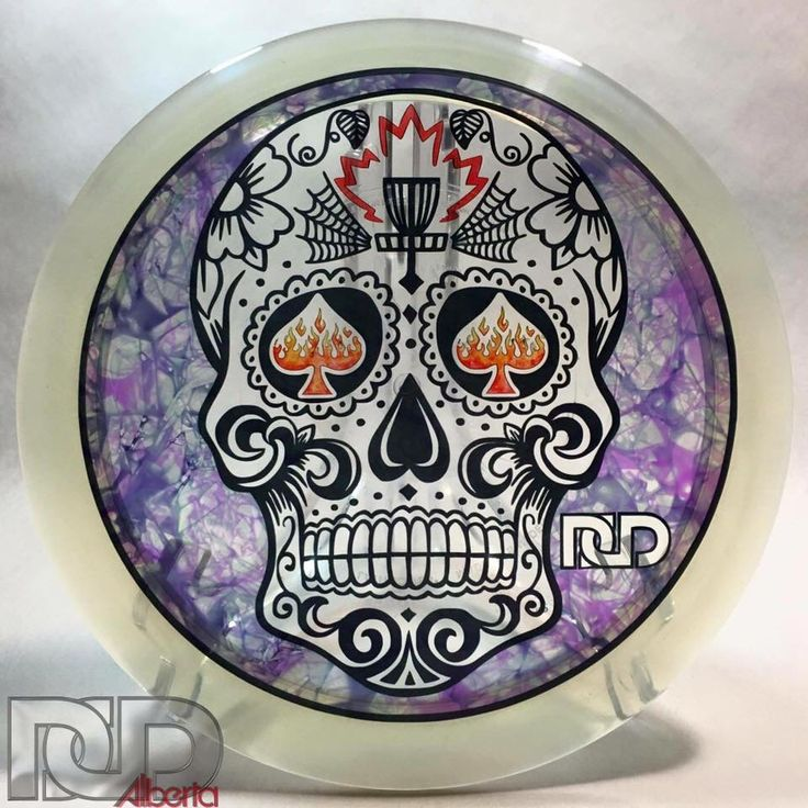 #sugarskull #dayofthedead #skull #disc #discgolf #discgolfdye #DCD