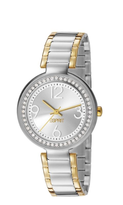 Esprit horloge Bela Crystal Two Tone ES106022004   Lucardi.nl