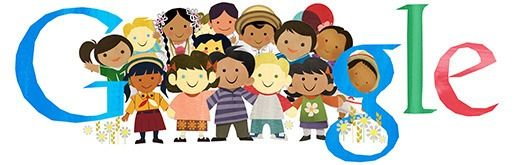 Celebrating the international Children's Day, today's Google Doodle depicts a group of kids of different ethnicities holding hands.