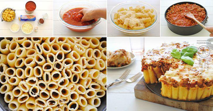 How to Make Rigatoni Pasta Pie - Cooking - Handimania