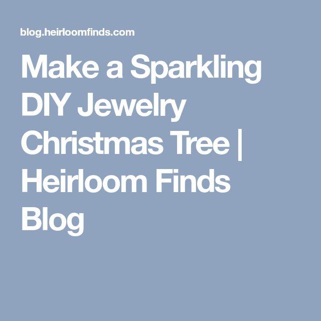 25 Unique Jewelry Christmas Tree Ideas On Pinterest