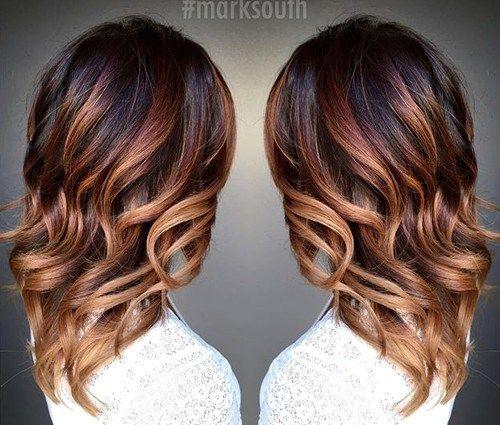 caramel+ombre+highlights+for+dark+brown+hair