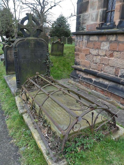 18th century grave with ornate cast iron cover, St mary and St Chad parish Church , Brewood, Staffordshire, England All Original Photography by http://vwcampervan-aldridge.tumblr.com
