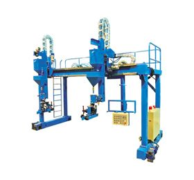 This JLH Gantry type submerged arc welding machine can be applied in Box-shaped column production line. It can replace the cantilever submerged arc welding machine by using the carbon dioxide to welding the base. You can choose a unipolar or multipolar welding as the turss welding machine has high working efficiency.