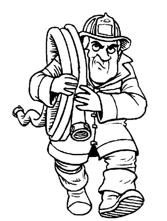 111 best images about bff fire fighter stuff on pinterest for Firefighter coloring pages