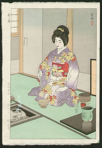 tea ceremony Japanese print