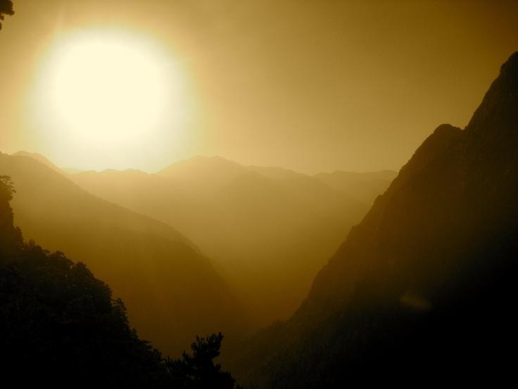 Sunrise at the Samaria Gorge, Crete