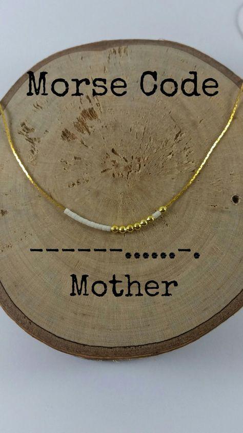 Mutter Morsecode Halsketten, geheime Botschaft, zierliche Halskette, minimalistisch, Morsecode Schmuck, Goldkette, Mutter Geschenk, Mutter Geschenk, Mutter Geschenk   – DIY