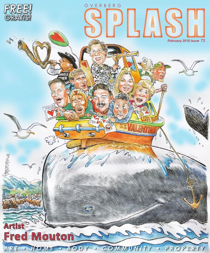 Splash Magazine Overberg - February 2016  Splash Magazine is a local ART, HOME, BODY, COMMUNITY and PROPERTY Magazine distributed in the Overberg and Whale Coast areas in South Africa.