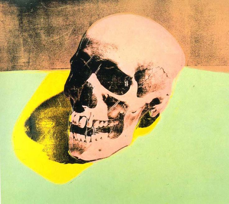 Skull - Andy Warhol, 1976. Compare to the van Gogh from earlier.