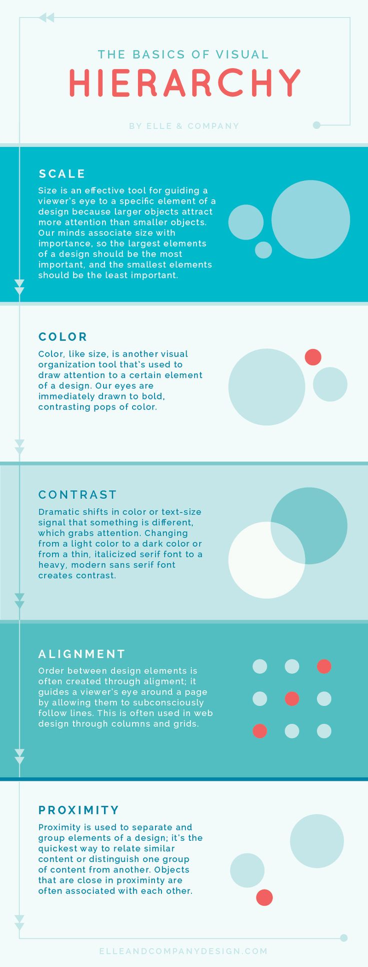 The Basics of Visual Hierarchy (and why it's important for your website!) - Elle & Company