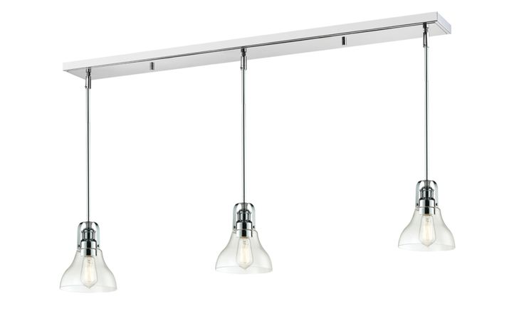 Rustic Contemporary Forge Chrome Pool Table Light