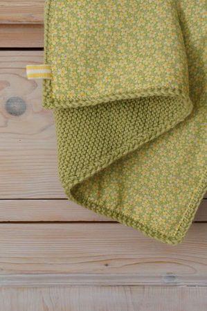 couverture point mousse doublée de tissu fleuri chez Nadine&Co