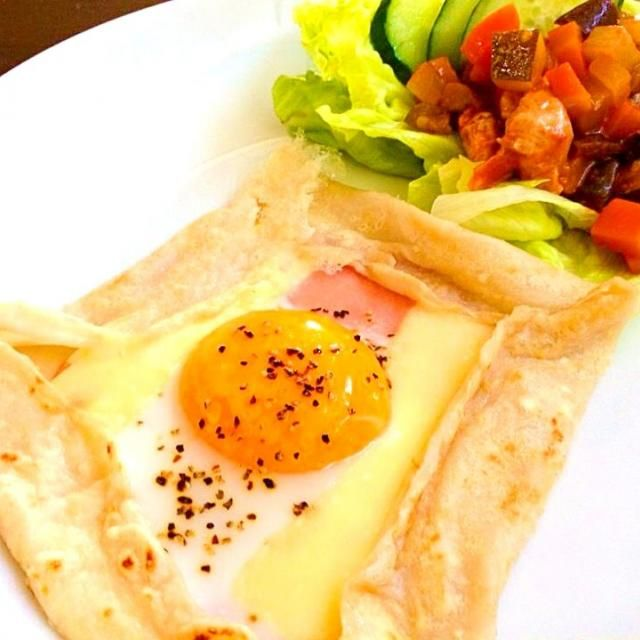 チーズが溶けていい感じ♡ - 20件のもぐもぐ - そば粉ガレット&ラタトゥイユ by himapu