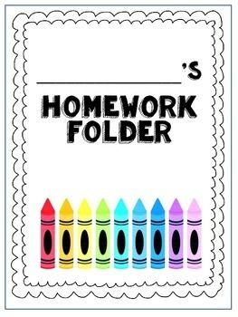 Print and go homework folder cover page AND homework helper. I print a set for…