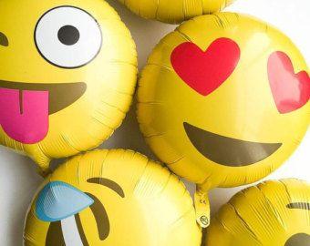 Emoji Foil Balloons  Crying with Laughter Emoji  Poo Emoji
