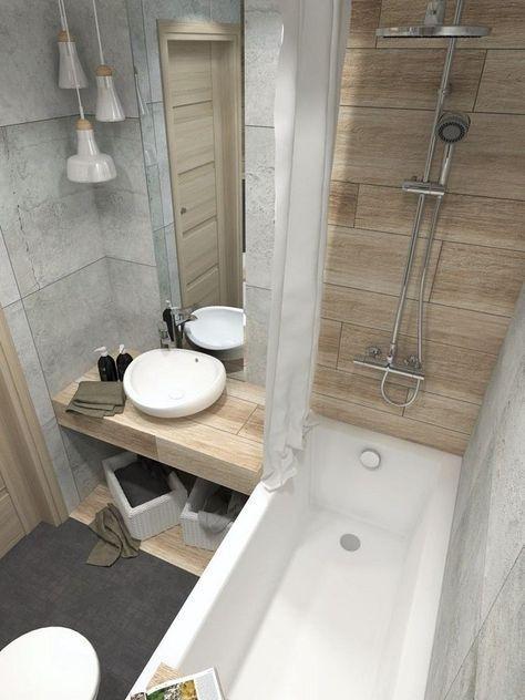 petite salle de bain scandinave très élégante