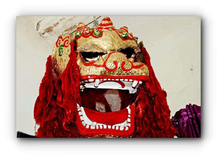 Cabeza de dragon en carton piedra para desfiles año nuevo chino, fiestas, ...