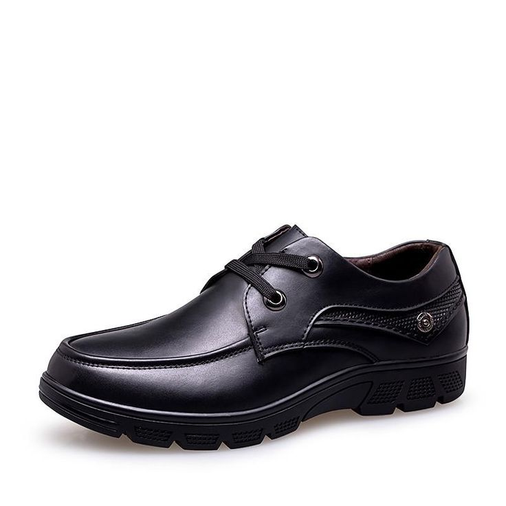Men's business office shoes - true pig leather inner - big size dress shoes