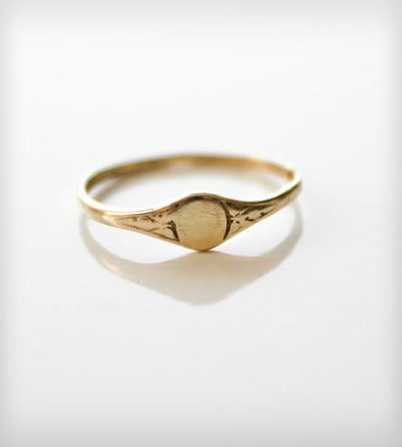 Vintage Pinky Signet Ring - Gold by Jook & Nona on Scoutmob Shoppe