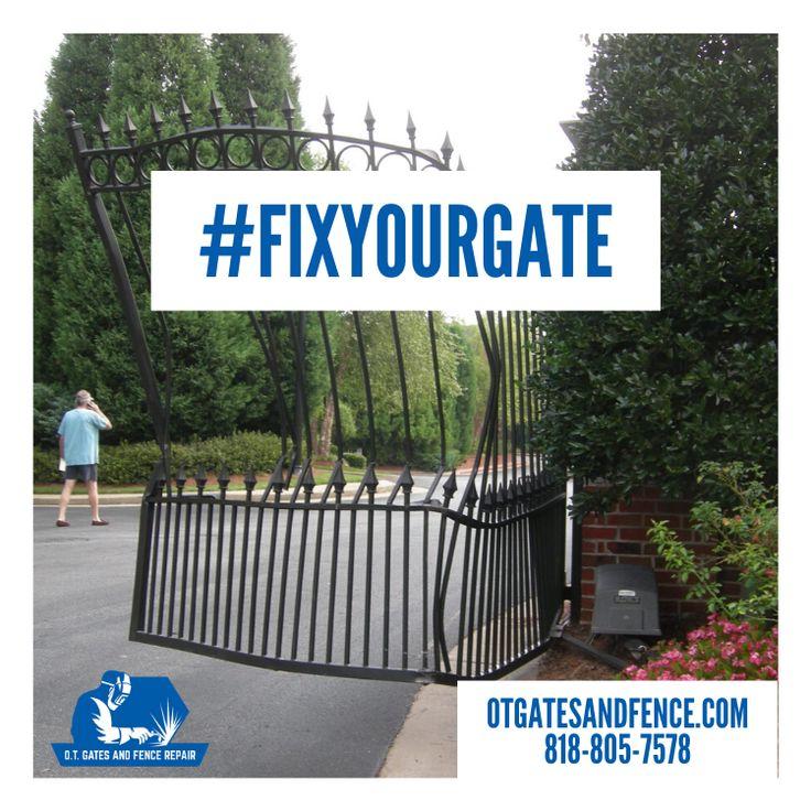 Fix Your Gate Today! in 2020 Driveway gate, Gate, Repair