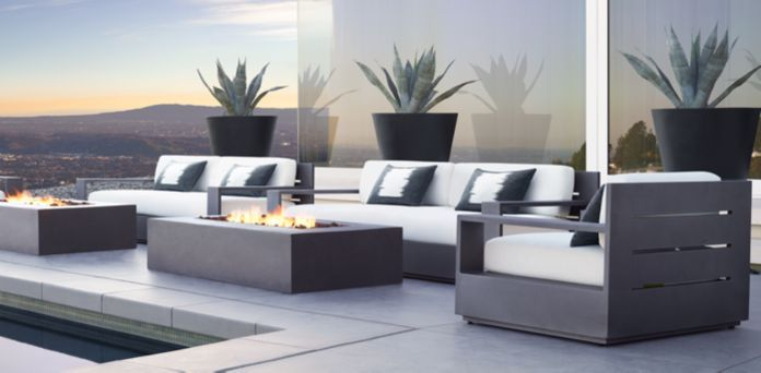 1000 ideas about rh furniture on pinterest modern for Sofa exterior marbella